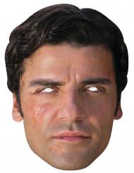 Poe aus Star Wars™ Karton-Maske hautfarben-schwarz