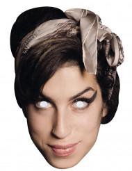 Amy Winehouse Kartonmaske bunt