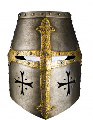 Mittelalter Ritterhelm-Maske Kostümzubehör silber-gold