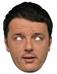 Matteo Renzi Kartonmaske Kostümzubehör hautfarben-schwarz