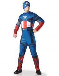 Captain America Lizenzkostüm rot-weiss-blau
