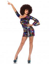 Reizvolles Frauenkleid mit Licht reflektierenden Wellenmotiven - mehrfarbig