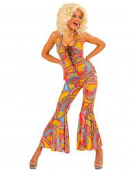 Farbenfrohes Damen-Hippiekostüm bunt
