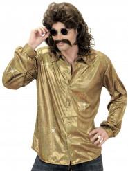 Disco 70er Jahre Hemd M gold