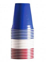 Frankreich-Farben Party-Becher 20-Stück blau-rot-weiss 530ml
