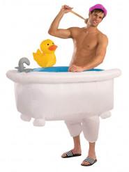 Witziges Badewannen-Kostüm auflbasbar Unisex bunt