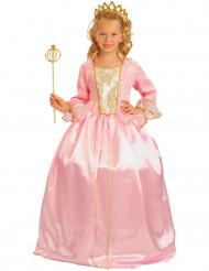 Prinzessin-Mädchenkostüm Königin-Kinderkostüm rosa