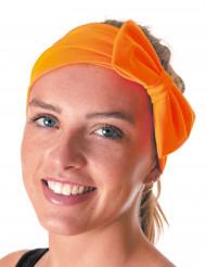 80er-Jahre Schleifen-Haarband neonorange