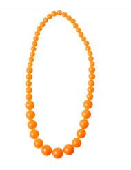 80er-Jahre Perlenkette neonorange