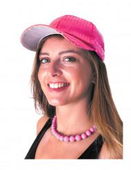 Pailletten-Kappe Basecap rosa