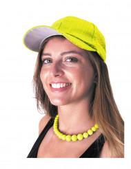 Pailletten-Kappe Basecap gelb