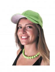 Pailletten-Kappe Basecap grün