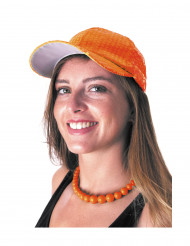Pailletten-Kappe Basecap orange