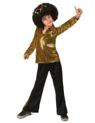70er-Kinderkostüm Disco-King gold-schwarz