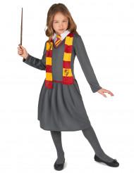 Zauberlehrling Kostüm für Mädchen grau-rot-gelb