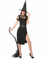 Sexy Hexe Damenkostüm schwarz