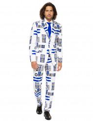 R2D2-Anzug Opposuits™-Herrenanzug weiss-blau-grau