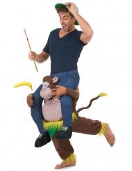 Tragender Affe Carry-Me-Kostüm bunt