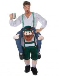 Mann auf dem Rücken Bayern-Kostüm bunt