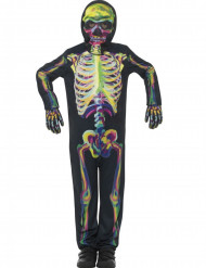 Skelett-Kinderkostüm phosphoreszierend