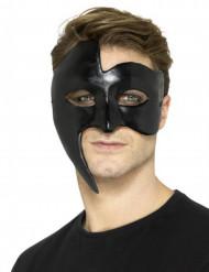 Asymmetrische Gothic-Augenmaske Halloween Kostüm-Accessoire schwarz