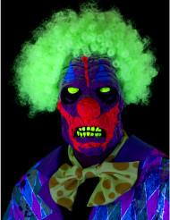 Clownmaske mit UV-Effekt
