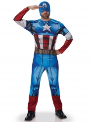 Marvel Captain America Winter Soldier Kostüm Lizenzware blau-weiss-rot