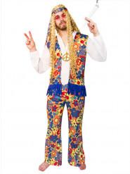 60er Jahre Hippie Kostüm bunt