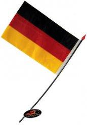 Deutschland-Fahne Fussball-Fanartikel schwarz-rot-gelb 14x9cm