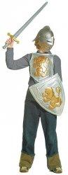 Ritter Rüstung Kinderkostüm Set silber-gold