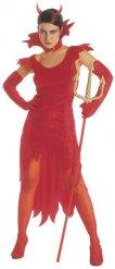 Teuflische Dämonen-Lady Halloween Damenkostüm rot