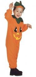 Kinder Kostüm Kürbis orange-grün