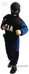 CIA Kinderkostüm Polizei schwarz-blau