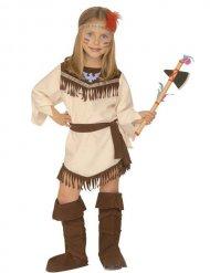Squaw Indianerin Kinderkostüm Wildwest beige-braun