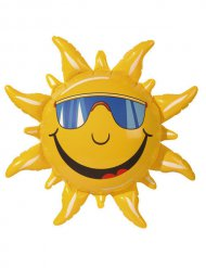 Aufblasbare Sonne Sommerparty-Deko gelb 60cm