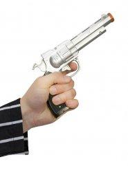 Gangster Pistole silber-schwarz 18cm