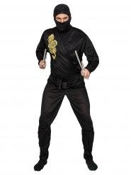 Ninja Kostüm schwarz-gelb