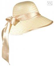 Charleston Damenhut mit Schleife beige-rosa