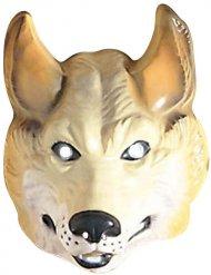 Wolf Maske Tiermaske beige-weiss