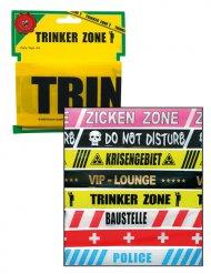 Absperrband Trinker Zone Party-Deko gelb-schwarz 600x7,5cm