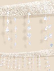 Blüten-Deko Deckendeko weiss 365x30cm
