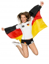 Deutschland Fan Umhang Flagge schwarz-rot-gelb 110x150cm