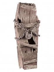 Sarg-Deckel mit Ketten Halloween Party-Deko braun 39x150cm