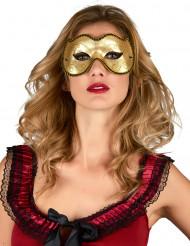 Venezianische Augenmaske gold