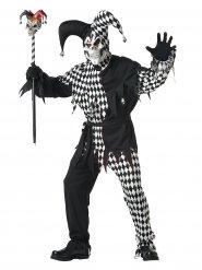 Böser Clown Harlekin Halloween-Kostüm schwarz-weiss