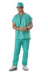 OP Chirurg Kostüm Arzt türkis