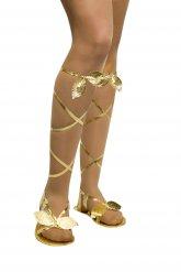 Römerin Sandalen Griechin Kostümzubehör gold