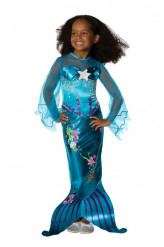 Meerjungfrau Kinderkostüm Nixe blau