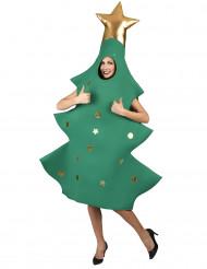 Tannenbaum-Kostüm Unisex-Weihnachtskostüm grün-gold