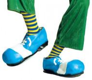 Ringelsocken Clown blau-gelb